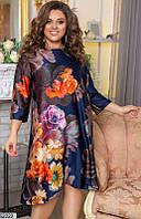 Платье женское нарядное ассиметричное шелковое 48-58 размеров, 2 цвета