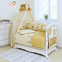 Постельное белье для детской кроватки Twins Standart Африка, беж