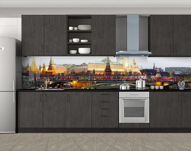 Кухонный фартук Архитектура города, Наклейка на кухонный фартук, Мосты, коричневый