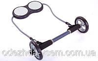 Колесо для пресса двойное (ролик для пресса) с эспандером PS A-71 (d-17см, мет, пласт, l эсп.-125см)