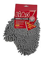 Рукавица для уборки пыли Liao 22х28см Серый