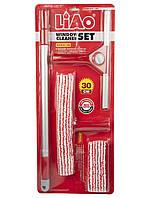 Набор для мытья окон (4шт) Liao 25х60см Красный, Белый, Серый