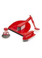 Набор аксессуаров для уборки (5шт) Liao 25х35см красный, белый, серый