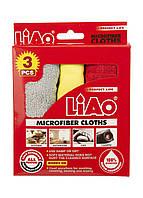 Салфетки для уборки (3шт) Liao 50х36см Красный, Серый, Желтый, фото 1