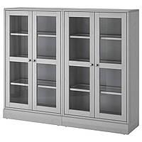 Сервант IKEA HAVSTA 162x134x37 см серый 292.659.62
