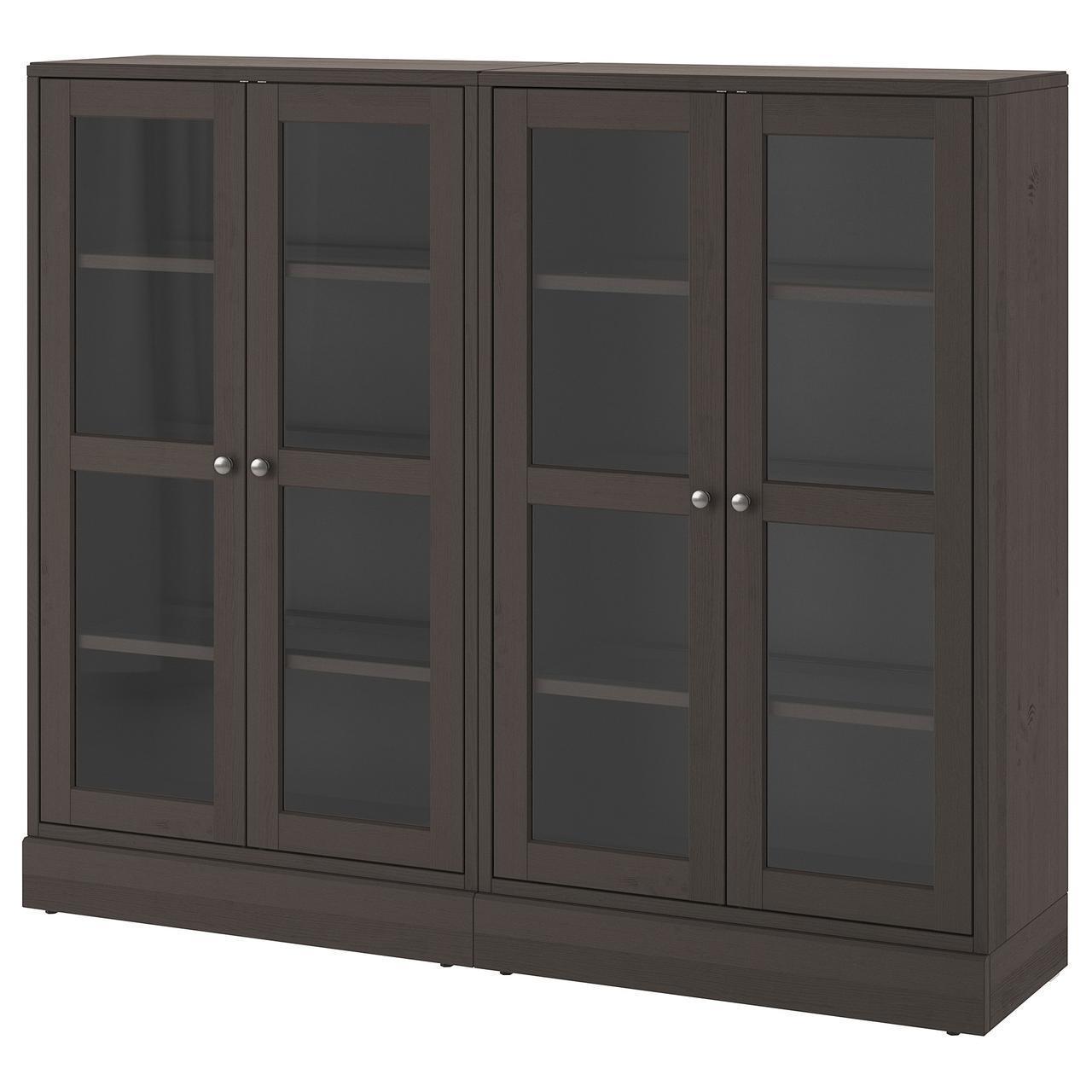 Сервант IKEA HAVSTA 162x134x37 см темно-коричневый 792.659.50