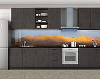 Кухонный фартук Пустынные холмы, Пленка для кухонного фартука с фотопечатью, Природа, бежевый