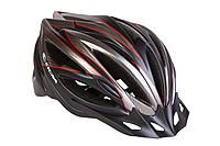 Шлем велосипедный с козырьком СIGNA WT-068 L (58-61см) (черно-красный) (HEAD-018)