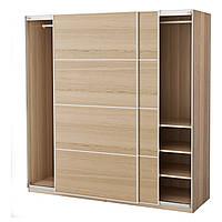 Шкаф IKEA PAX 200x66x201 см Ilseng под беленый дуб 791.283.50