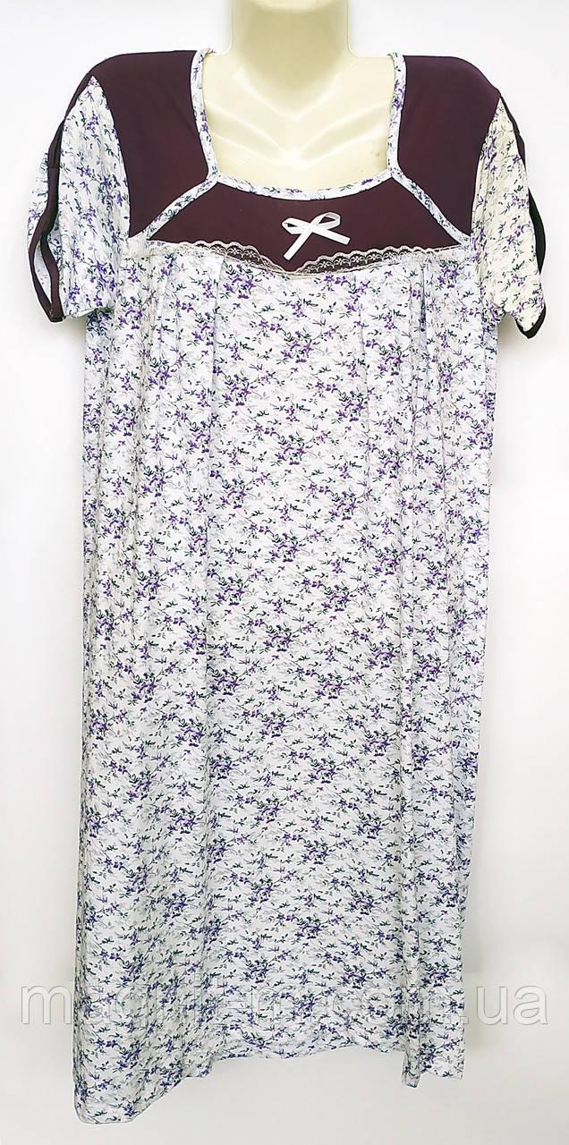 """Нічна сорочка """"Samo"""" з коротким рукавом. Бавовна. Узбекистан. №158."""