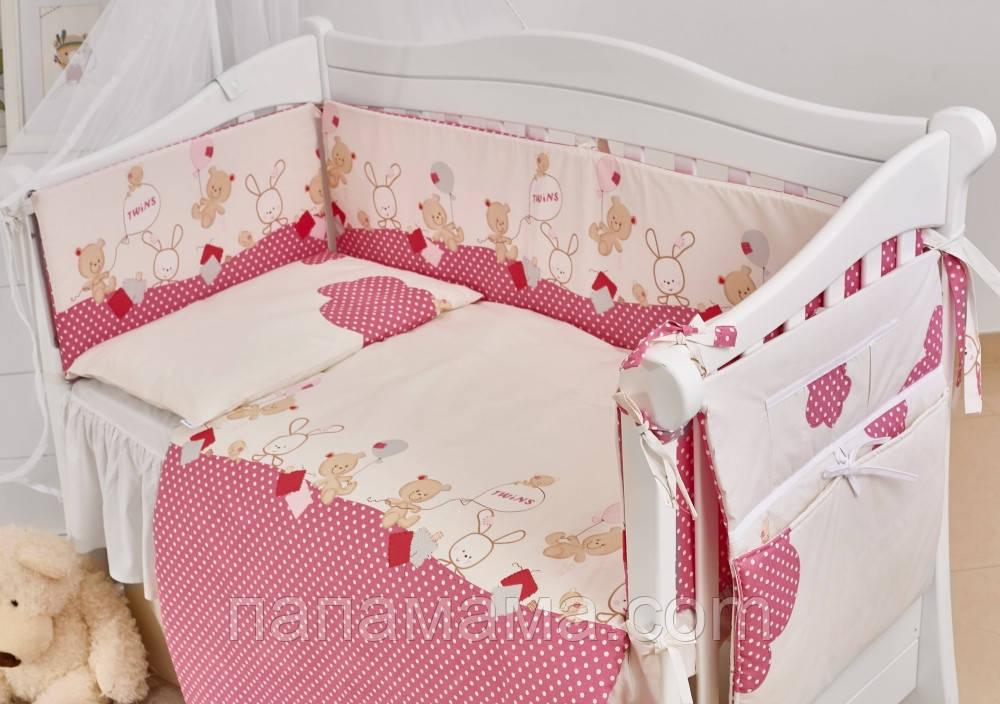 Детская постель Twins Comfort New Горошки 7 эл
