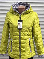 Весенняя осенняя женская желтая куртка с капюшоном 40, 42, 44