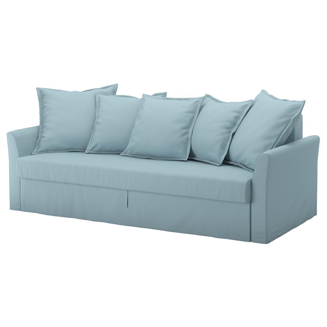 Диван IKEA HOLMSUND 3-местный раскладной Orrsta голубой 892.407.56