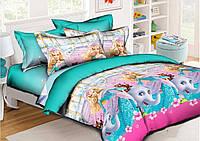 Натуральное постельное бельё для девочки.