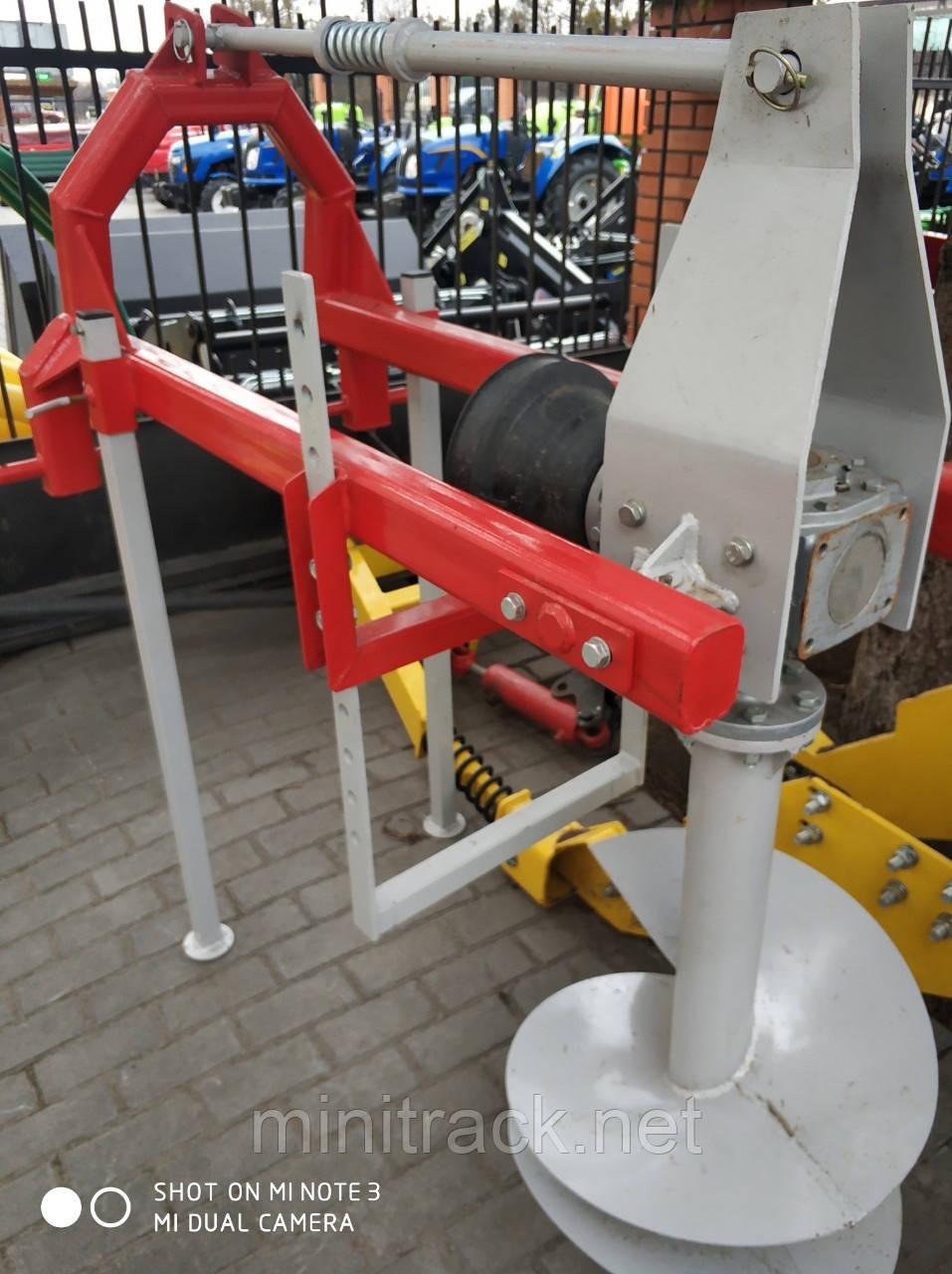 Бур для трактора, ямобур два шнека, - Ø250 мм; Ø500 мм