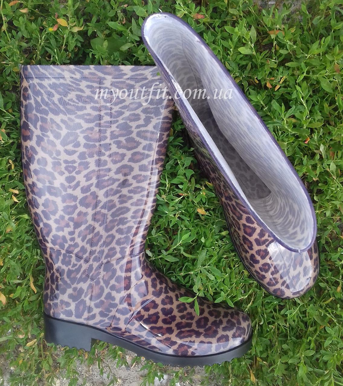 aaf04bdd5 Женские резиновые сапоги / Леопард Литма Літма Litma жіночі гумаки резиняки  чоботи гумові ...