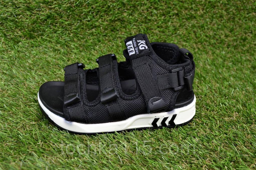 Детские босоножки на мальчика адидас Adidas черные р27-32, копия