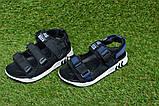 Детские босоножки на мальчика адидас Adidas черные р27-32, копия, фото 2