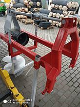 Бур для минитрактора, с карданом, два шнека - Ø250 мм; Ø500 мм