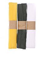 Декоративная лента (3шт) 30м Melinera 3000см Желтый, Зеленый, Белый