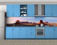 Кухонный фартук Красные горы, Защитная пленка на кухонный фартук с фотопечатью, Природа, коричневый