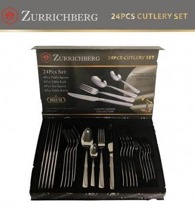 Столовые приборы Zurrichberg ZBP 7087 набор из 24 предметов на 6 персон хороший подарок набор фраже, фото 2