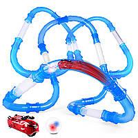 ☟Трубопроводные гонки Chariots Zipes Speed Pipes 72 элемента вагон пульт управления быстрые гонки для детей