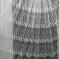 Тюль с  вышивкой на фатине цвет айвери Оптом и метражом, фото 1