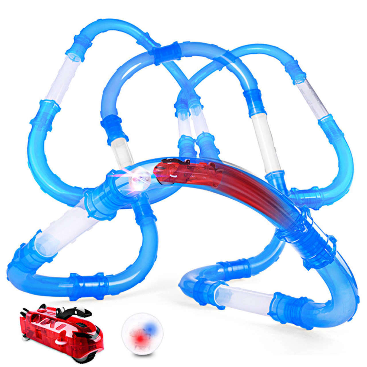 ➤Трубопроводные гонки Chariots Speed Pipes 27 элементов светящаяся машина высокая скорость движения