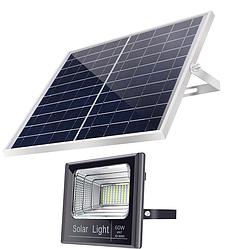 Прожектор  JD-8840 40W SMD, IP67, солнечная батарея, пульт ДУ, датчик света, встр. аккум.