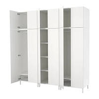 Шкаф IKEA PLATSA 240x57x251 см Fonnes белый 792.485.88