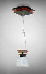 Люстра металлическая одноламповая на тросах 10801