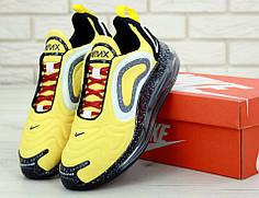 Мужские кроссовки Nike Air Max 720 Black yellow. ТОП Реплика ААА класса.