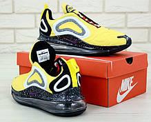 Мужские кроссовки Nike Air Max 720 Black yellow. ТОП Реплика ААА класса., фото 2