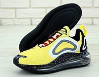 Кроссовки мужские Nike Air Max 720 реплика ААА+ размер 41-45 желтый (живые фото), фото 1