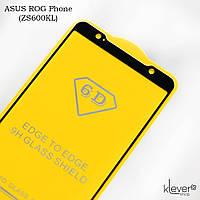 Защитное стекло 2,5D Full Glue для ASUS ROG Phone (ZS600KL) (black) (клеится всей поверхностью)