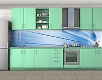 Кухонный фартук Дуновение ветра, Самоклеящаяся стеновая панель для кухни, Абстракции, голубой, фото 1