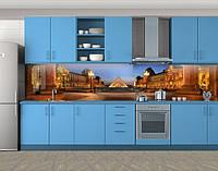 Кухонный фартук Лувр в Париже, Самоклеящаяся стеновая панель для кухни, Архитектура, коричневый