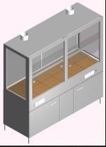 Шкаф вытяжной для работы с агрессивными средами ШВ-2-1.9