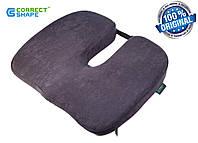 Ортопедическая подушка для сидения Model-1 ТМ Correct Shape (серо-сиреневая), фото 1