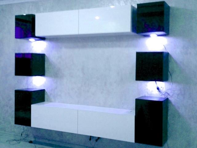 стенка Кубика 1 в интерьере