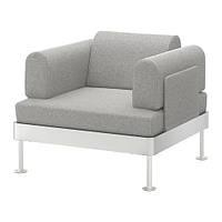 Кресло IKEA DELAKTIG Tallmyra белый серый 892.537.39