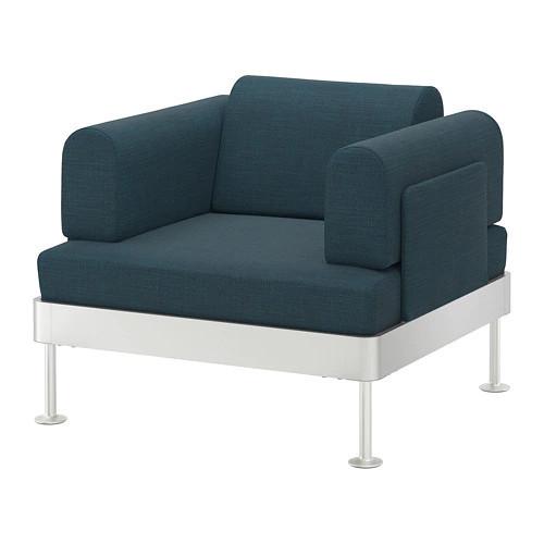 Кресло IKEA DELAKTIG Hillared бирюзовое 992.537.34