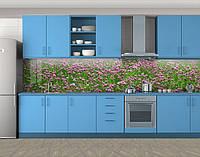 Кухонный фартук Клевер, Фотопечать кухонного фартука на самоклейке, Цветы, зеленый, 600*3000 мм, фото 1