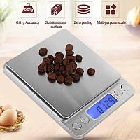Весы ювелирные, лабораторные, кухонные 0.01-3000 грамм с чашей