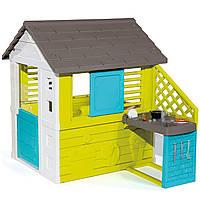 Домик садовый детский игровой Радужный с летней кухней Smoby 810711