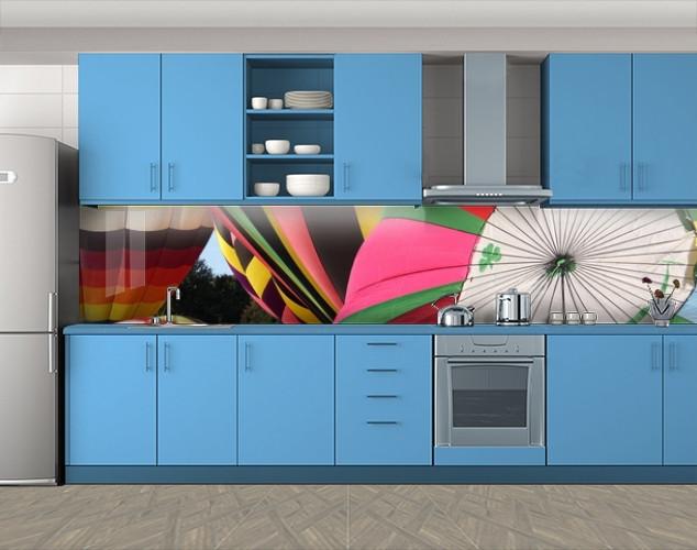 Кухонный фартук Воздушные шары, Фотопечать кухонного фартука на самоклейке, Разное, розовый
