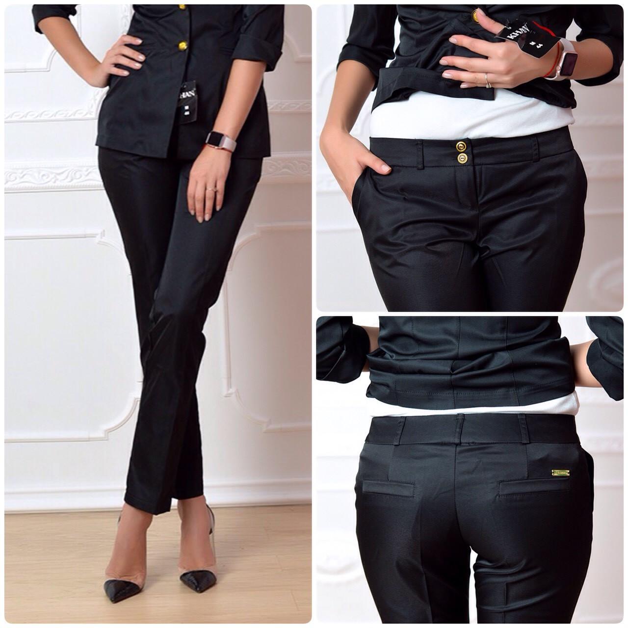 Женские брюки, арт 314, цвет черный