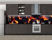 Кухонный фартук Угли и огонь, Кухонный фартук с фотопечатью, Разное, черный, фото 1