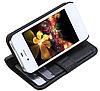 Черный кожаный чехол Iphone 4/4s